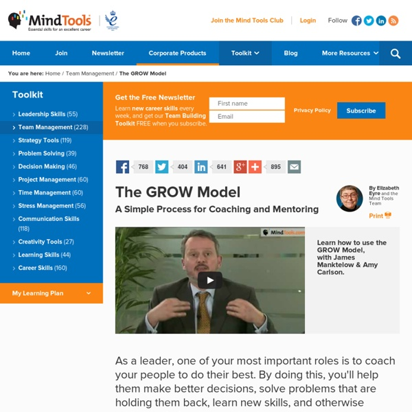 The GROW Model - Coaching Training From MindTools