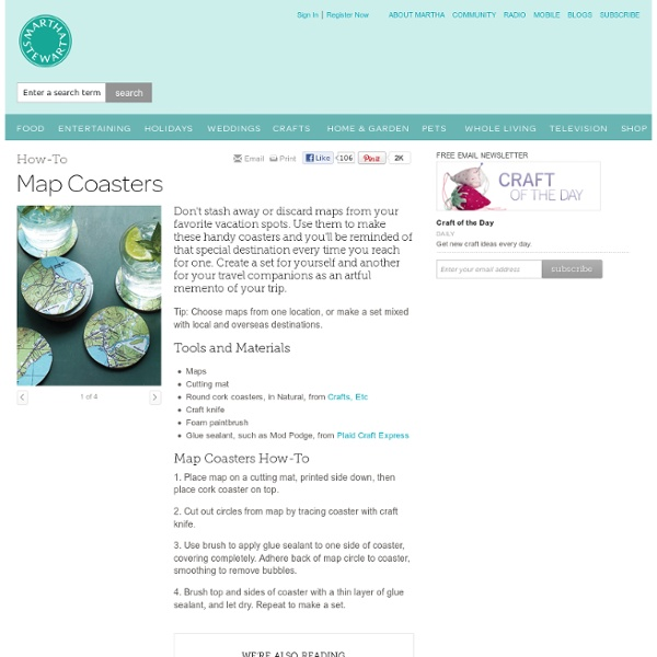 Map Coasters - Introduction - MarthaStewart.com