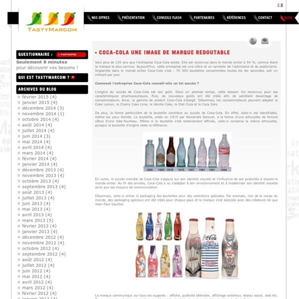 Coca-Cola une image de marque redoutable