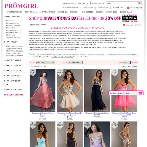 Short Cocktail Dresses, LA Glo Teen Party Dresses