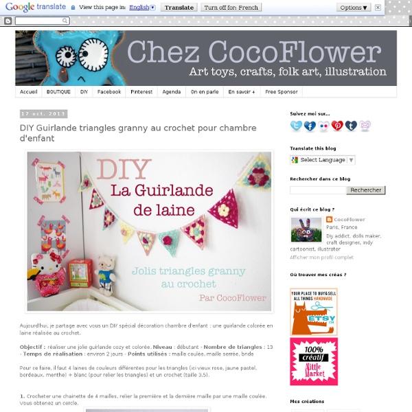 DIY Guirlande triangles granny au crochet pour chambre d'enfant