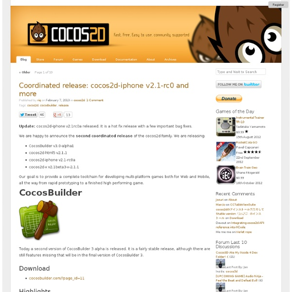 Cocos2d for iPhone