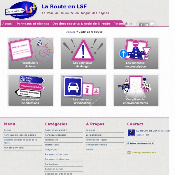 Code de la Route : La Route en LSF