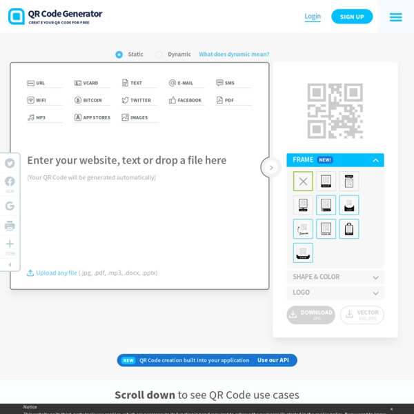 QR Code Generator - Create QR Codes for free
