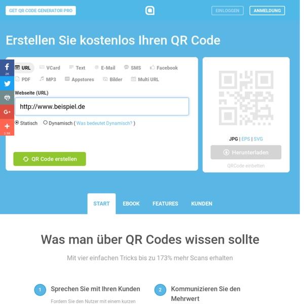 QR Code Generator - Erstellen Sie hier kostenlos QR Codes