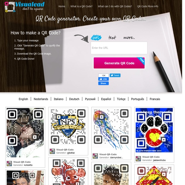 QR Code Generator - Make your own QR Code. Free. Visualead.com