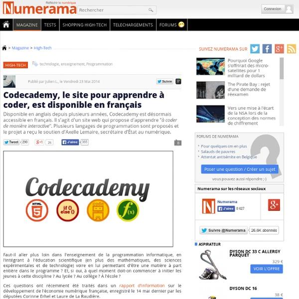 Codecademy, le site pour apprendre à coder, est disponible en français