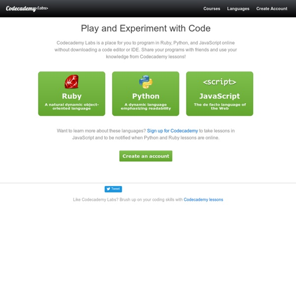 Codecademy Labs | Pearltrees