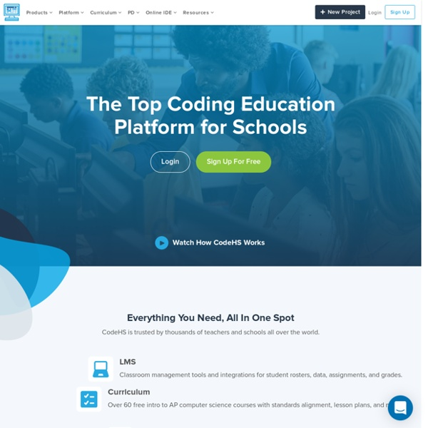 CodeHS - Learn to Code at School or at Home