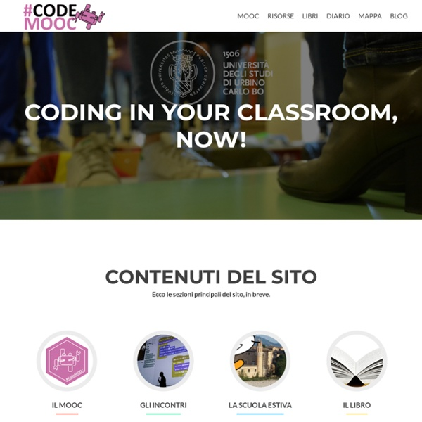 CodeMOOC – Coding in your Classroom, Now!