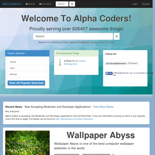 Alpha Coders - Your Source For Art, Wallpapers, Photography, Forum Avatars, and Quotes