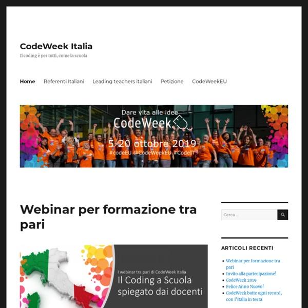 Il sito italiano di CodeWeek.EU