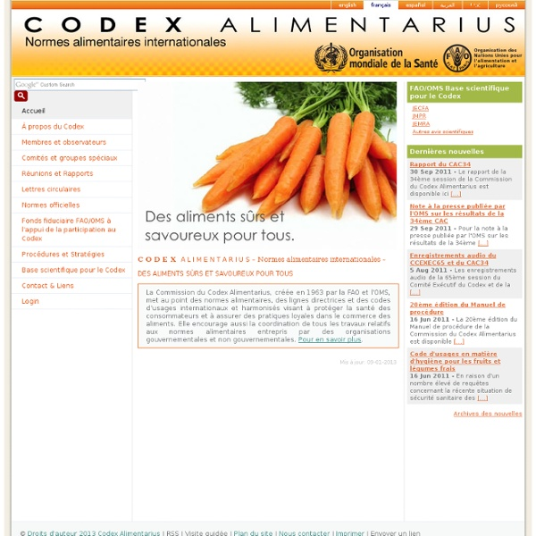 1963 Commission du Codex Alimentarius