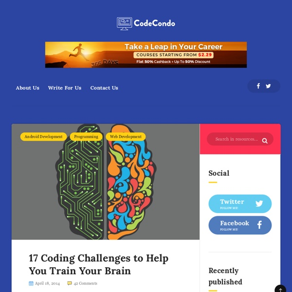 17 Coding Challenges to Help You Train Your Brain