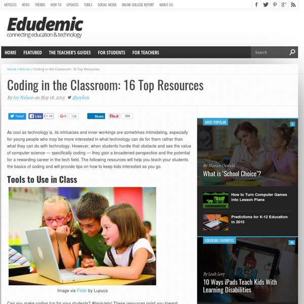 Coding in the Classroom: 16 Top Resources