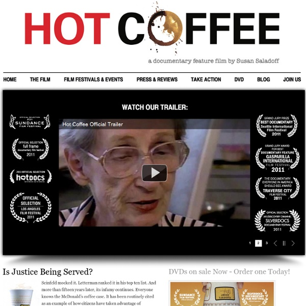 HOT COFFEE, a documentary feature film