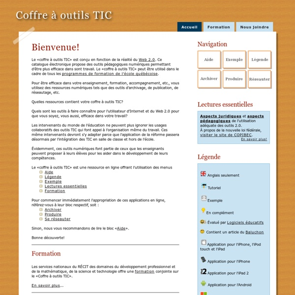 CoffreOutilsTIC:Accueil