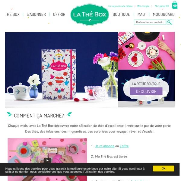 La Thé Box, le coffret de thés et d'infusions par abonnement