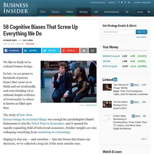 Cognitive Biases Screw Up Decisions