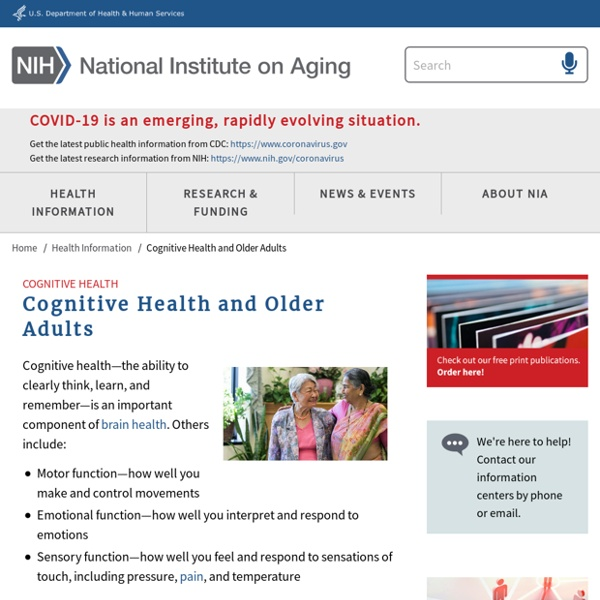 Cognitive Health and Older Adults