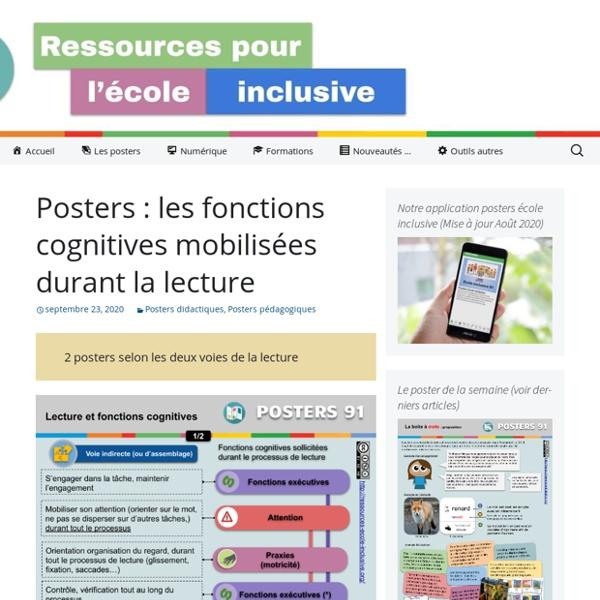 Posters : les fonctions cognitives mobilisées durant la lecture