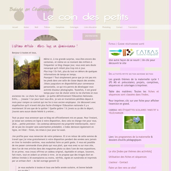 Maternelle Cycle 1