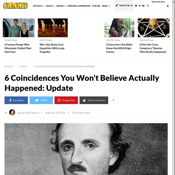 6 Insane Coincidences You Won't Believe Actually Happened