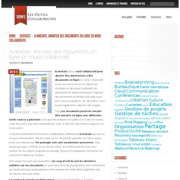 A.nnotate. Annoter des documents en ligne en mode collaboratif