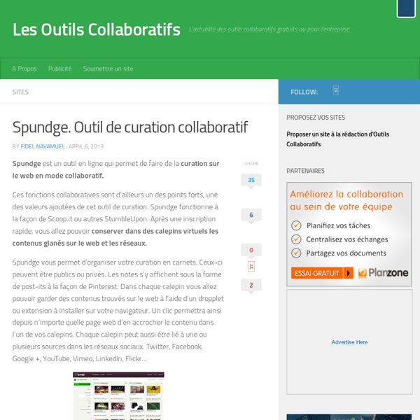 Spundge. Outil de curation collaboratif