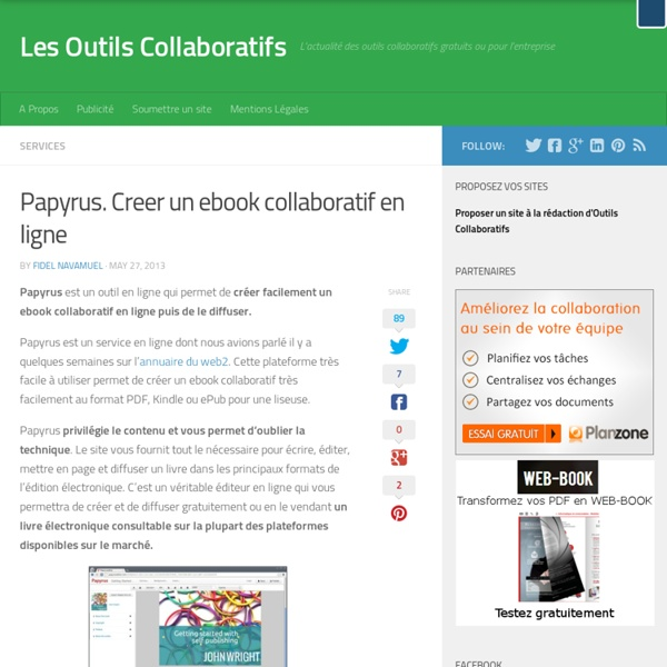 Papyrus. Creer un ebook collaboratif en ligne