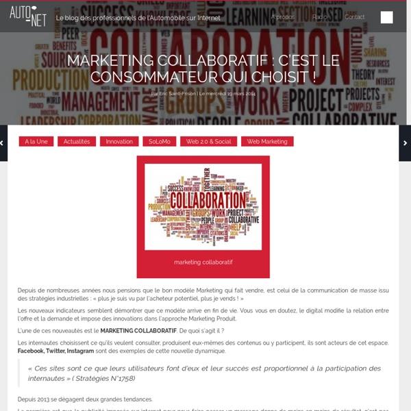 Marketing collaboratif, c'est le consommateur qui choisit !