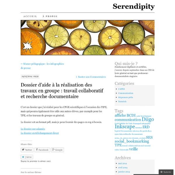 Dossier d'aide à la réalisation des travaux en groupe : travail collaboratif et recherche documentaire