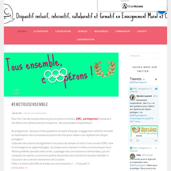 EMC, partageons ! – Dispositif inclusif, interactif, collaboratif et formatif en Enseignement Moral et Civique