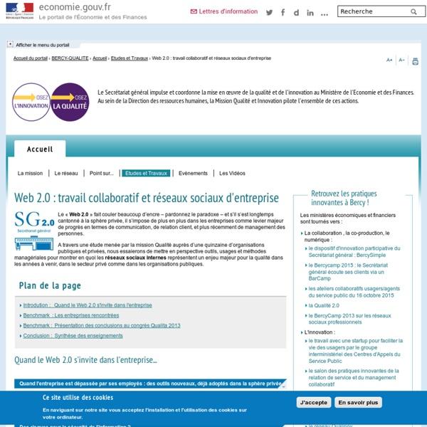 Web 2.0 : travail collaboratif et réseaux sociaux d'entreprise