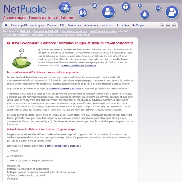 Travail collaboratif à distance : formation en ligne et guide du travail collaboratif