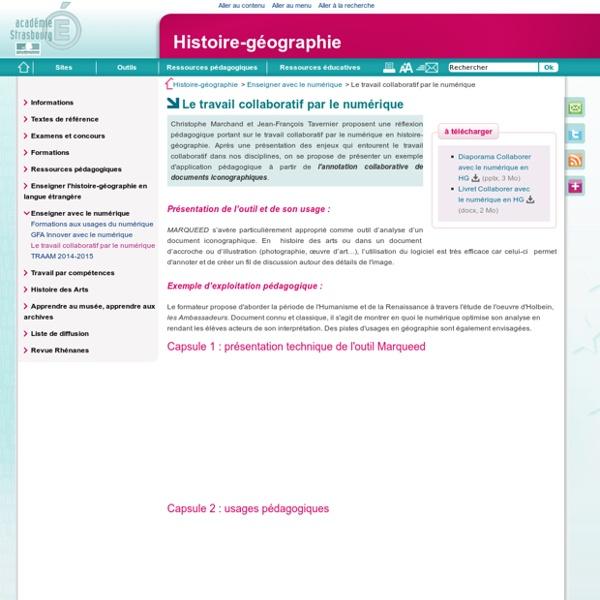 Le travail collaboratif par le numérique - Histoire-géographie