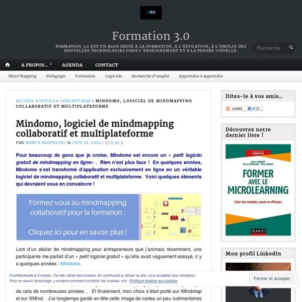 Mindomo, logiciel de mindmapping collaboratif et multiplateforme