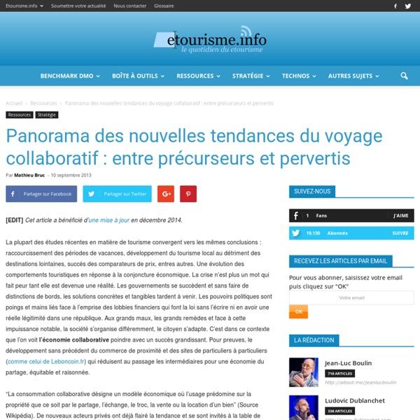 Panorama des nouvelles tendances du voyage collaboratif : entre précurseurs et pervertis