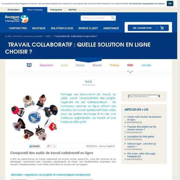 Travail collaboratif : quelle solution en ligne choisir ? - Webzine PRO