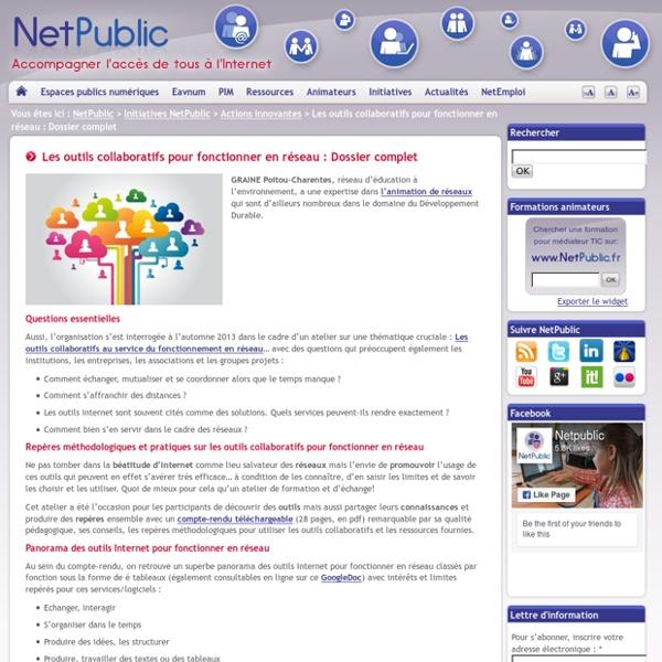 Les outils collaboratifs pour fonctionner en réseau : Dossier complet