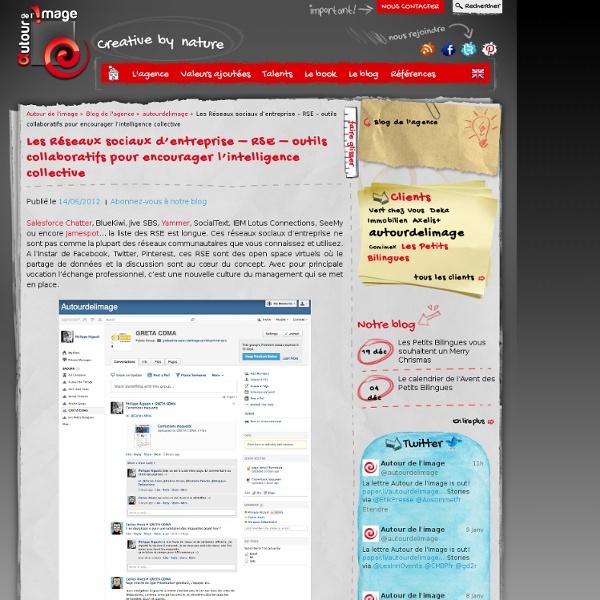 Les Réseaux sociaux d'entreprise – RSE – outils collaboratifs pour encourager l'intelligence collective