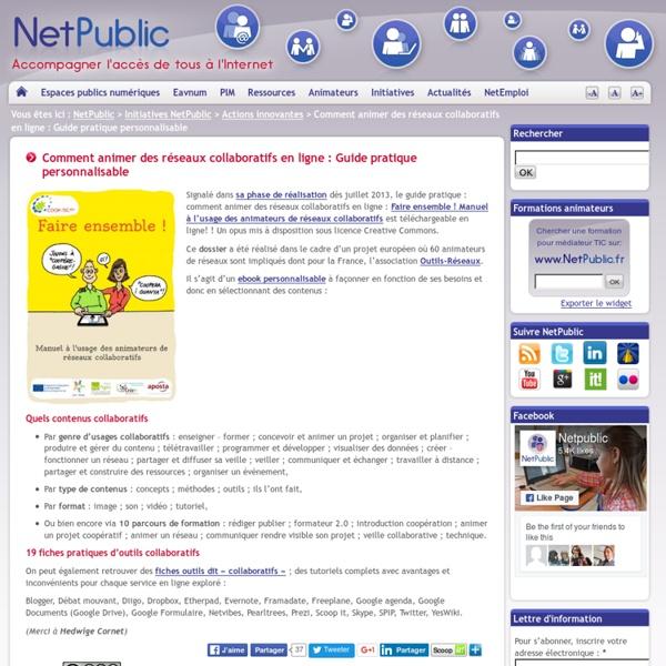 Comment animer des réseaux collaboratifs en ligne : Guide pratique personnalisable