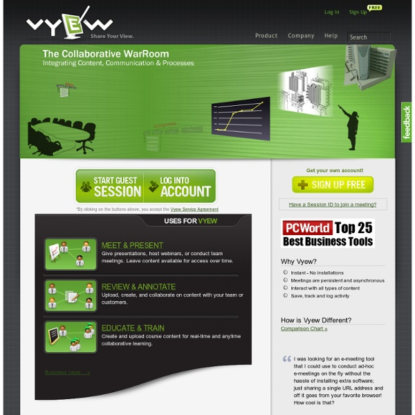 Vyew - FREE Anytime Collaboration and Live Web Conferencing™