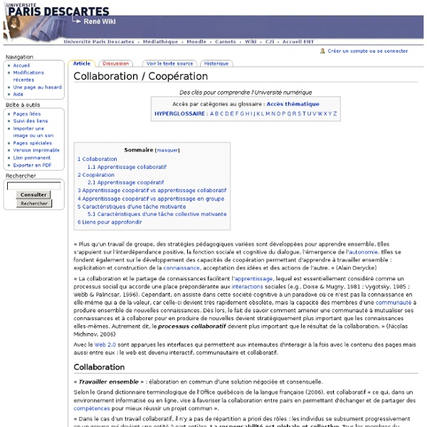 Collaboration / Coopération