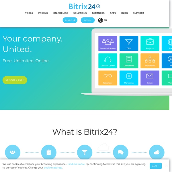 Bitrix24: Social Intranet, Task and Project Management, Activity Stream, Online Storage, CRM, Instant Messenger, File Sharing, Calendars and much more!