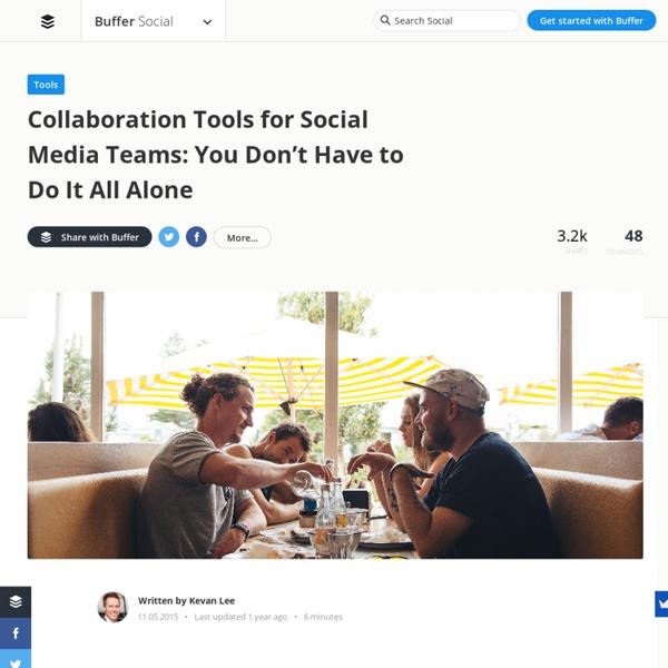 14 Collaboration Tools for Social Media Teams