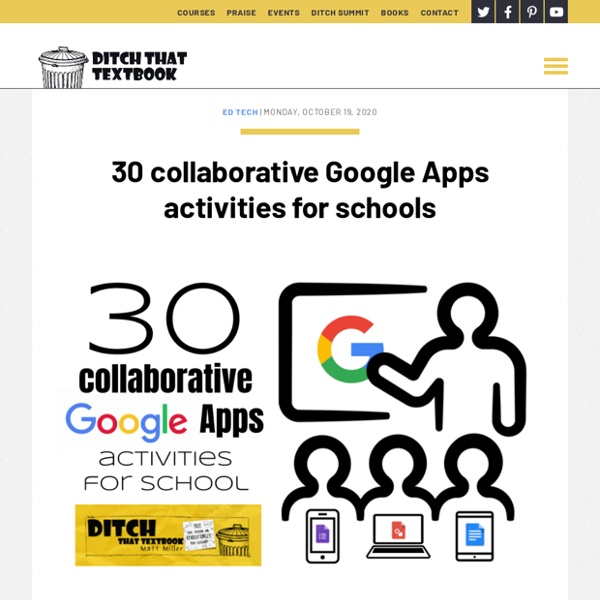 30 collaborative Google Apps activities for schools - Ditch That Textbook