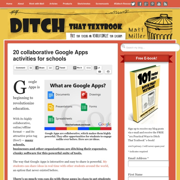 20 collaborative Google Apps activities for schools