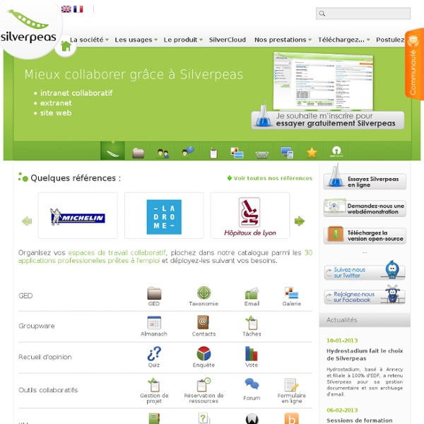 - Plate-forme collaborative intégrée Java, portail intranet collaboratif : Silverpeas -