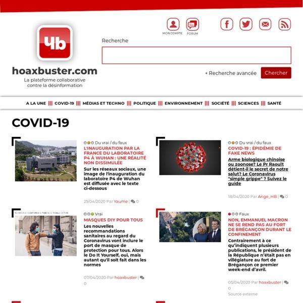 La plateforme collaborative contre la désinformation - Hoaxbuster